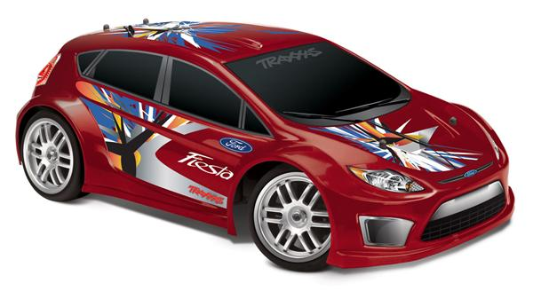 Traxxas 1/16 Ford Fiesta Rally RTR - TRA7305 gymkhana drift model