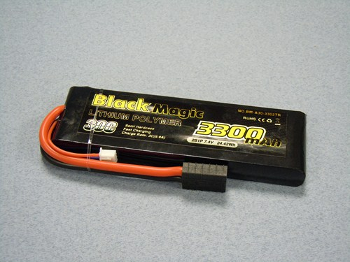 Black Magic LiPo baterie 3300mAh, 2s, 30C