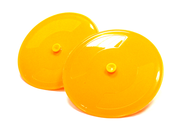 integy C23529LightOrange Version 2 Plastic Pylon Dish (2) Track Corner Markers