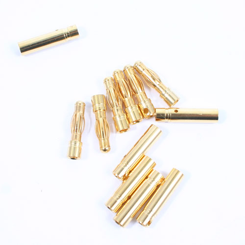 ETRONIX 4.0MM GOLD CONNECTORS (6 PAIRS MALE/FEMALE)