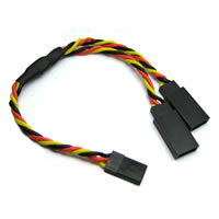 Etronix 15cm 22Awg Jr Twisted Y Extension Wire