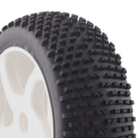 Fastrax 1/8th Premounted Buggy Tyres 'h Tread/10 Spoke""
