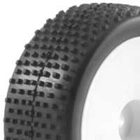 Fastrax 1/10th Mounted Buggy Tyres Lp 'Block' Front