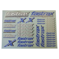 Fastrax 220cm X 158mm Decal Blue/White Logo