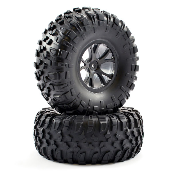 FTX OUTLAW PRE-MOUNTED WHEELS & TYRES - BLACK, FTX8335B