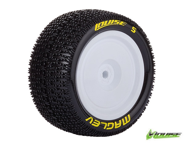 Louise RC E-MAGLEV 4WD Rear Tire, Associated B44, Carisma 4XS  4x4 1/10 buggy disky, zadni (2), LRC_L_T3176SWAR