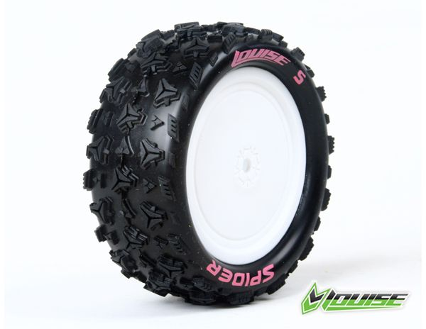 Louise RC E-Spider 4WD Front Tire, Associated B44, Carisma 4XS Rear 4x4 1/10 buggy disky, predni (2), LRC_L_T3198SWAF