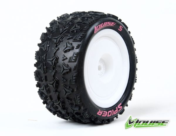 Louise RC E-Spider 4WD Rear Tire, Associated B44, Carisma 4XS Rear 4x4 1/10 buggy disky, zadni (2), LRC_L_T3200SWAR