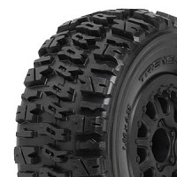 PL1190-13 Proline Trencher X SC 2.2in/3.0in M2 (Medium) Tires Mounted on Renegade Black Wheels, Slash, Telluride