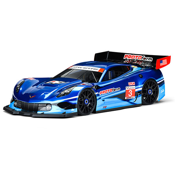 Protoform Chevrolet Corvette C7.r Clearbody For 1:8 Gt