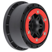 Pro-line 'split Six' Red/black Beadloc Wheels Sc10 Rear