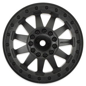 "Proline F-11 2.8"" Traxxas Bead Black Rear Wheels Elec. Stamp"
