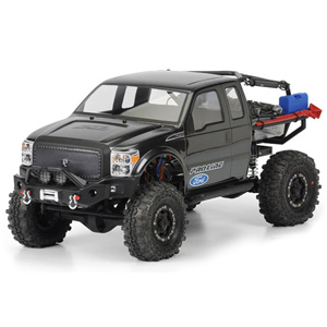 PL3392-00 Proline Ford F-250 Super Duty Cab Clear Body for SCX10 Trail Honcho 12.3in (313mm) Wheelbase