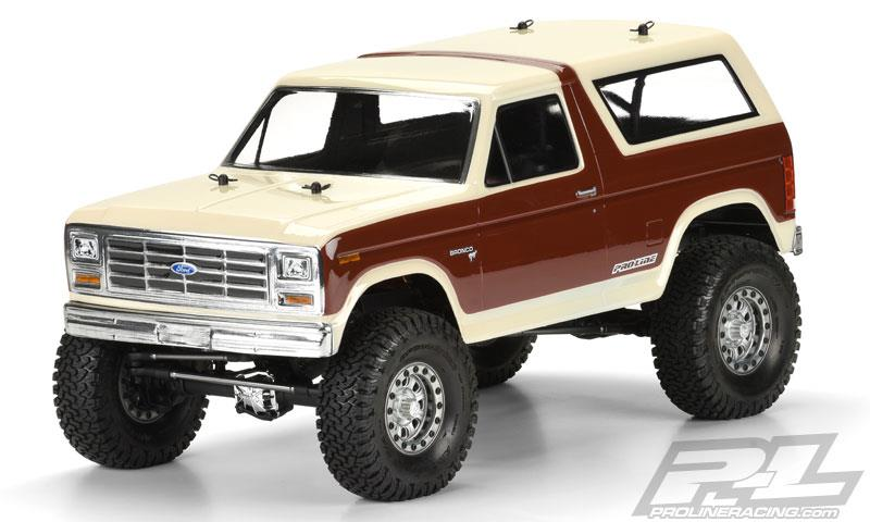 "PL3472-00 Ford Bronco Clear Body 1981, for 12.3"" (313mm) Wheelbase Scale Crawlers"