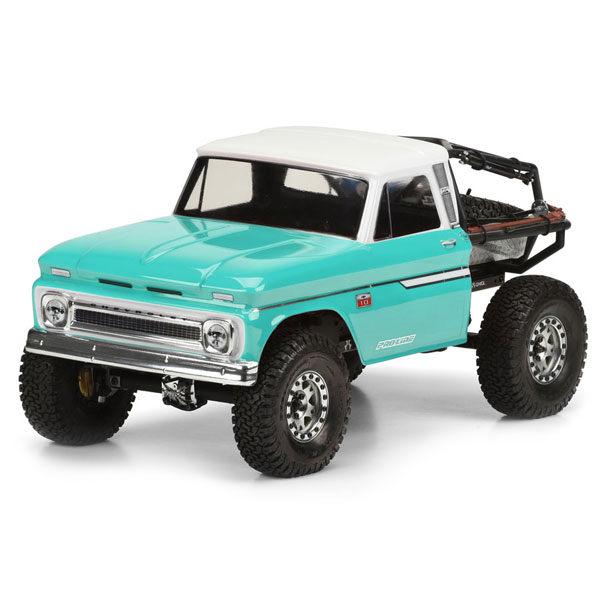 Proline 1966 Chevrolet C-10 Clear Body(Cab Only) Scx10 313