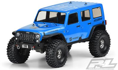 "PL3502-00 Jeep Wrangler Unlimited Rubicon Clear Body for 12.8"" Wheelbase TRX-4, karoserie pro TRX"