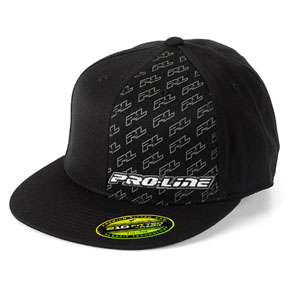 Proline Icon Black Flat Bill Flexfit Hat (S/m)