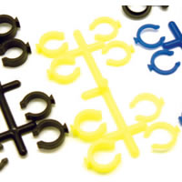 RPM Losi/Traxxas Spring Clips Yellow
