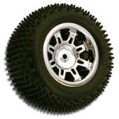 RPM Spider' 1/18th Scale Truck Rear Wheels - White Dyeable