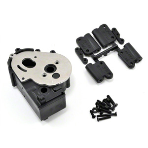 RPM73612 RPM TRAXXAS 2WD HYBRID GEARBOX HOUSING AND REAR MOUNTS BLACK, skrin prevodovky pro Traxxas 2wd, Rustler