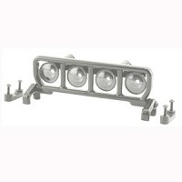 RPM Narrow Roof Mounted Light Bar Set - Chrome
