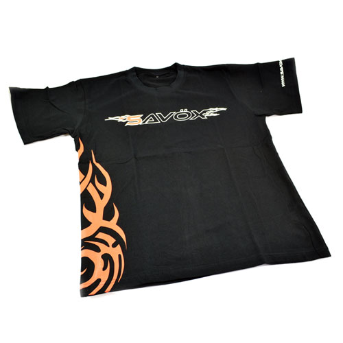 Savox T-shirt Black (Xl)(Uk-l) 2015 Flame Design