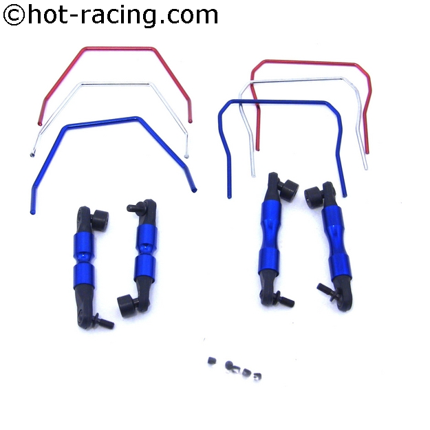 Hot Racing SLF311 Front & Rear Sway Bar 4wd Slash, stabilizační kit pro Slash 4x4