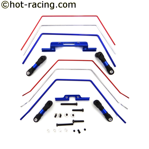 Hot Racing TE311SLC Front & Rear Wide Sway Bar 2wd Slash, stabilizační kit pro Traxxas Slash 2WD