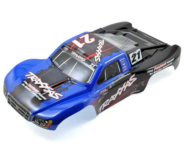 Traxxas 6833X TRA6833X Traxxas Blue & Black Body (Slash 4X4/Slayer)